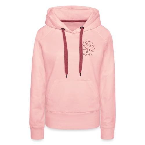 Dive o clock Dark Pink - Women's Premium Hoodie