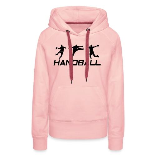 Handball Ailier Gardien Arrière - Sweat-shirt à capuche Premium pour femmes