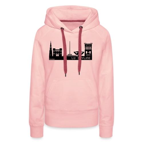Lu skyline de Terni - Felpa con cappuccio premium da donna