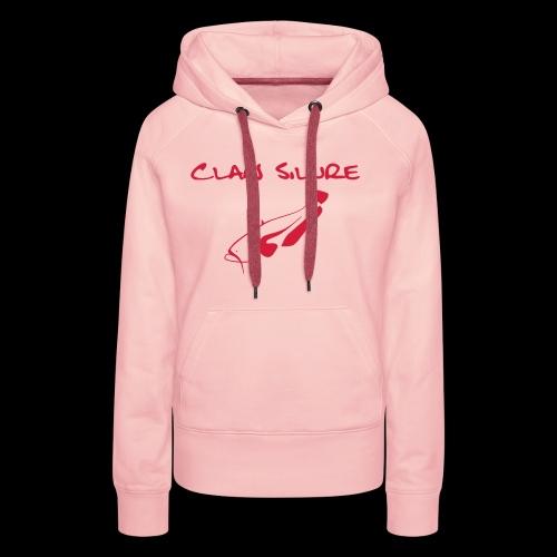 Clan Schrift schwarz - Frauen Premium Hoodie