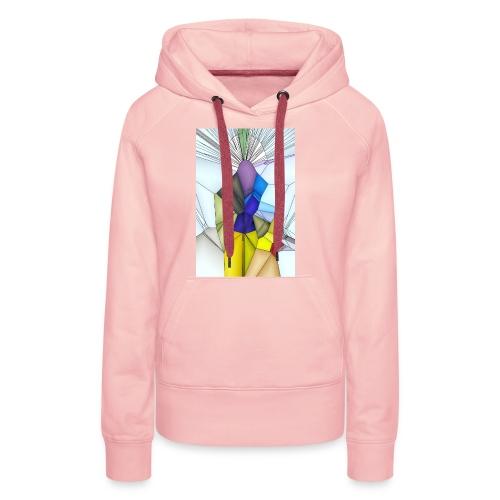 Optimistik Art - Sweat-shirt à capuche Premium pour femmes