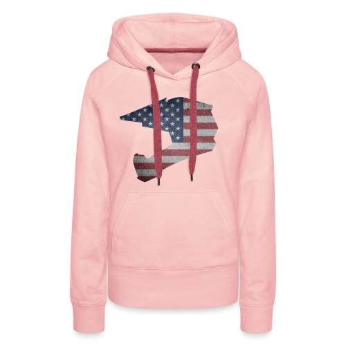 DOWNHILL HELM USA STYLE - Frauen Premium Hoodie