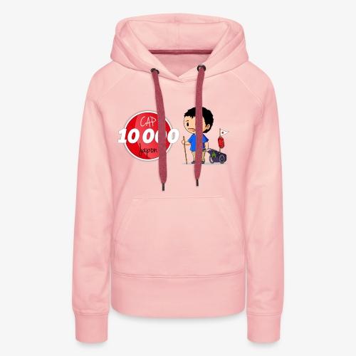 Logo Cap 10 000 Japon - Sweat-shirt à capuche Premium pour femmes