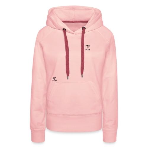 KC - Black - Sweat-shirt à capuche Premium pour femmes