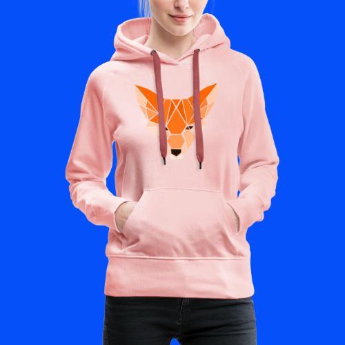 renard (collection Sauvage) - Sweat-shirt à capuche Premium pour femmes