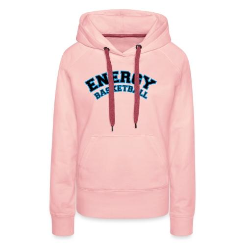 street wear logo nero energy basketball - Felpa con cappuccio premium da donna