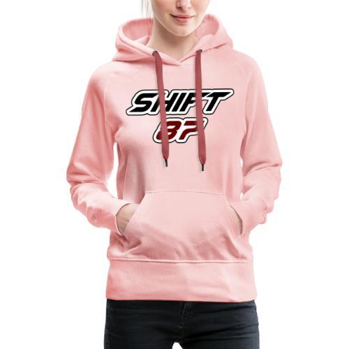 Logo SHIFT87 - Sweat-shirt à capuche Premium pour femmes