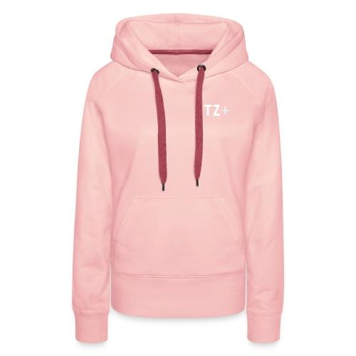TZ+ white logo - Women's Premium Hoodie