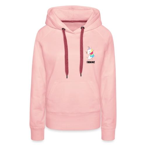 Fabulous Unicorn - Sweat-shirt à capuche Premium pour femmes