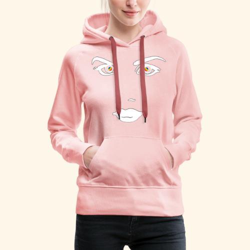 Regard profond 1 - Sweat-shirt à capuche Premium pour femmes