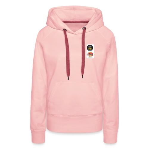 be fit und Citysport Logo - Sudadera con capucha premium para mujer