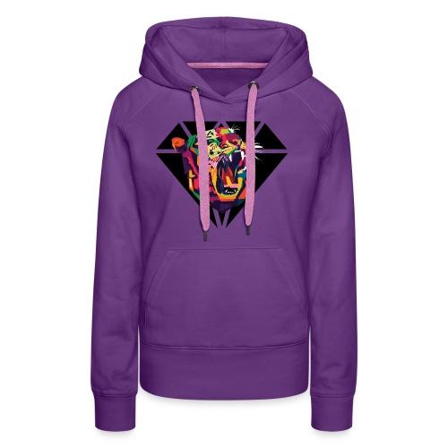 Tiger Hipster Design - Frauen Premium Hoodie