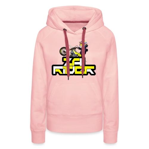 LOGO ZAI RIDER - Sweat-shirt à capuche Premium pour femmes