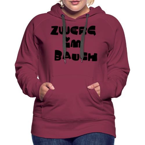 Zwerg im Bauch / Süßes Design für Schwangere - Frauen Premium Hoodie