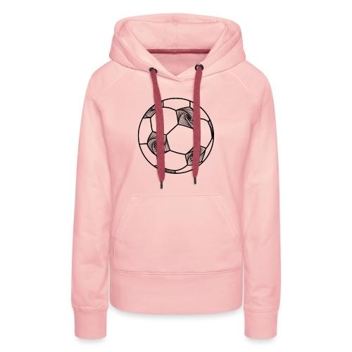 Ballon géométrique - Sweat-shirt à capuche Premium pour femmes