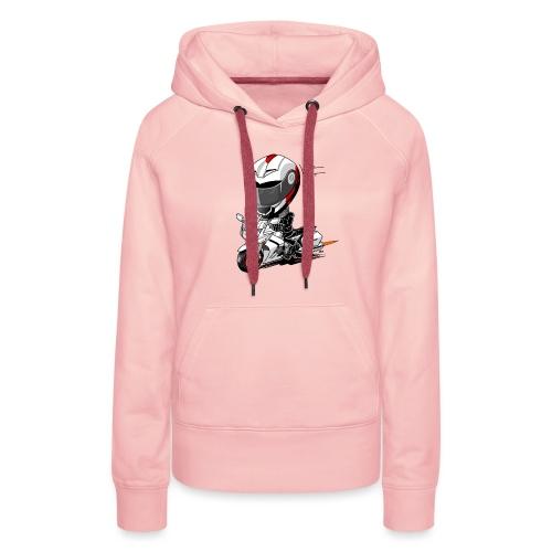 FJR wit - Vrouwen Premium hoodie