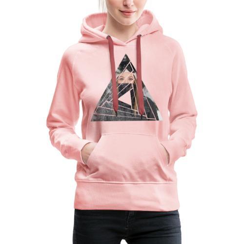 Snow Girl Triangle Graphic Design - Frauen Premium Hoodie