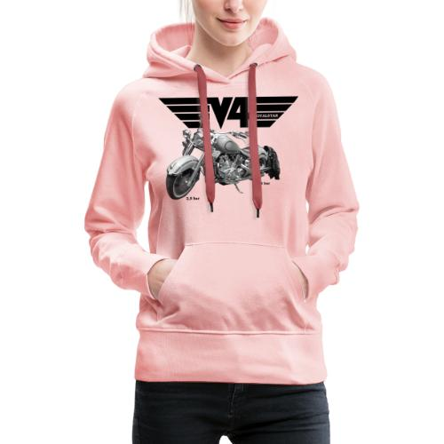 V4 Motorcycles black Wings - Frauen Premium Hoodie