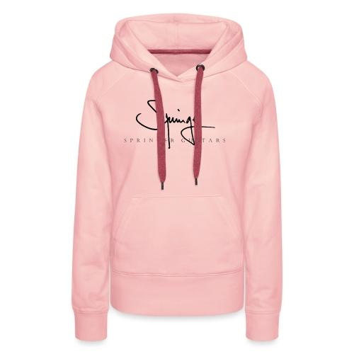 Logo Springer Guitars - Sweat-shirt à capuche Premium pour femmes