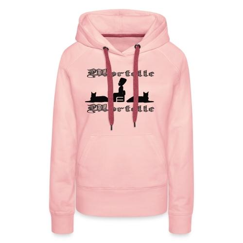 mortellemortelle - Sweat-shirt à capuche Premium pour femmes