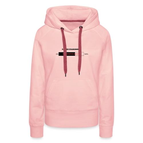 Papi en chargement - Sweat-shirt à capuche Premium pour femmes