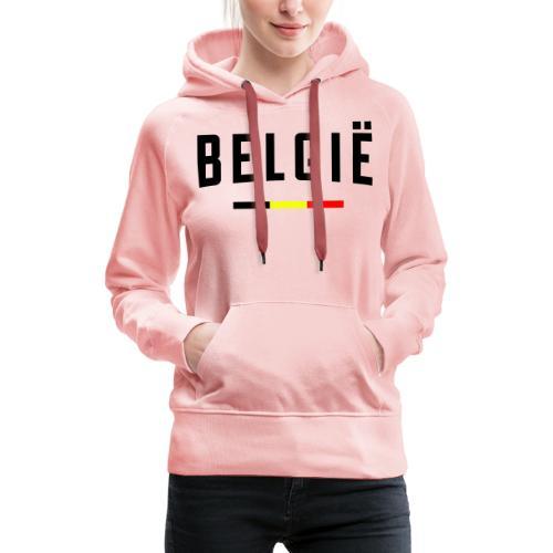 België - Belgique - Belgium - Sweat-shirt à capuche Premium pour femmes