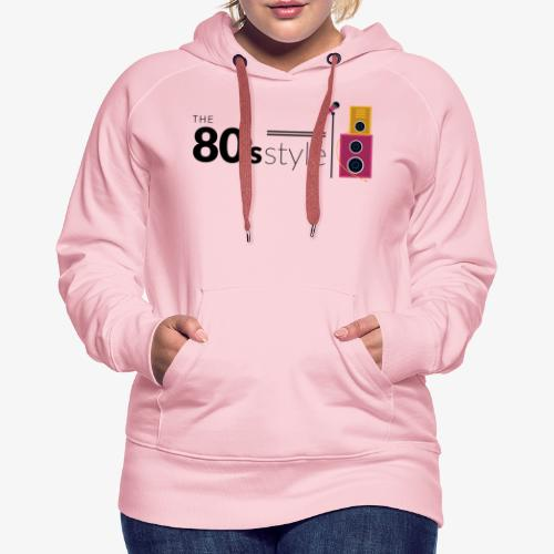 80s - Sudadera con capucha premium para mujer