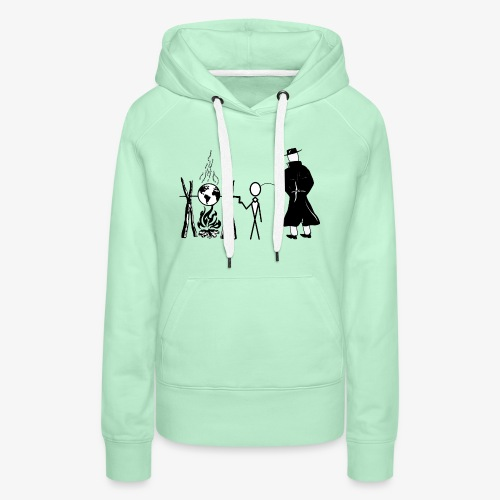 Pissing Man against human self-destruction - Frauen Premium Hoodie