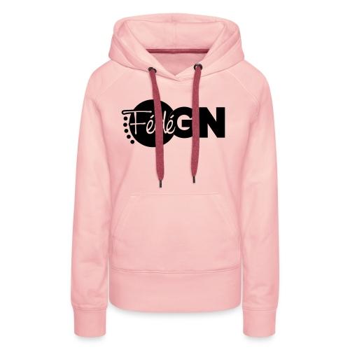 Logo FédéGN pantone - Sweat-shirt à capuche Premium pour femmes