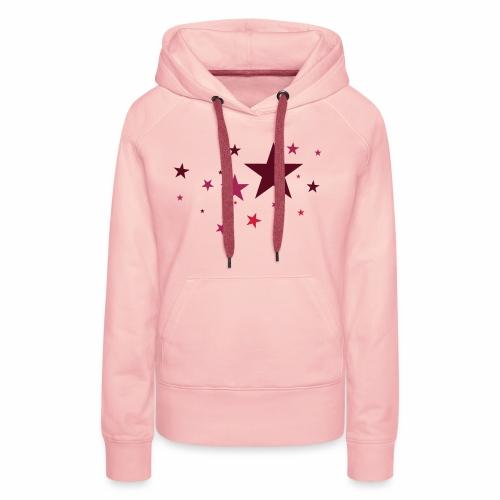 Sterne dreifarbig Vektor - Frauen Premium Hoodie