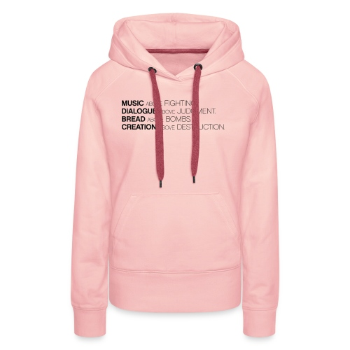 slogan png - Vrouwen Premium hoodie
