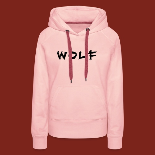 Wolf Font png - Vrouwen Premium hoodie