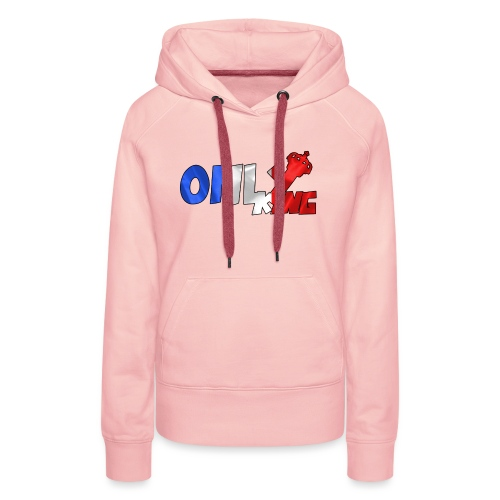 Logo ONLY KING edition francaise - Sweat-shirt à capuche Premium pour femmes