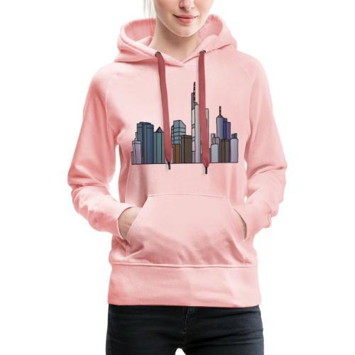Città di Francoforte c - Felpa con cappuccio premium da donna