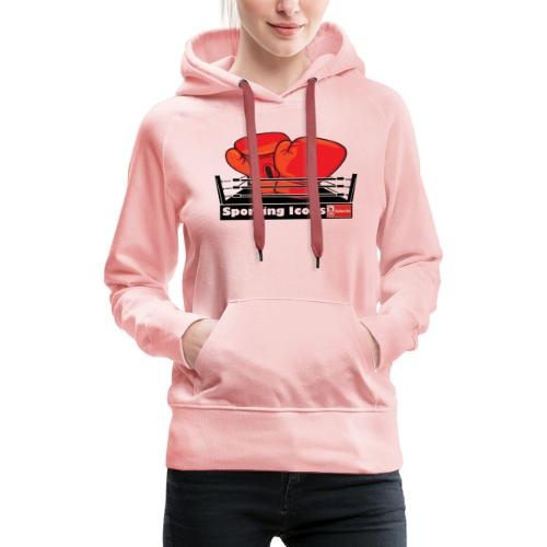 Gloves in a boxing ring - Women's Premium Hoodie