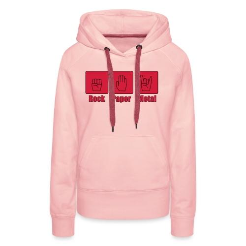 rockpapermetal_farbe - Frauen Premium Hoodie