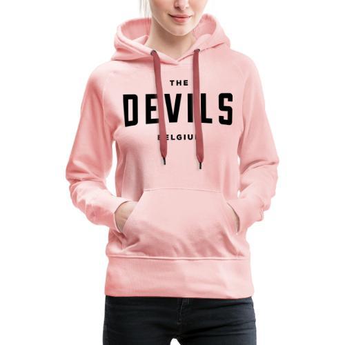 les diables belgique Belgique - Sweat-shirt à capuche Premium pour femmes