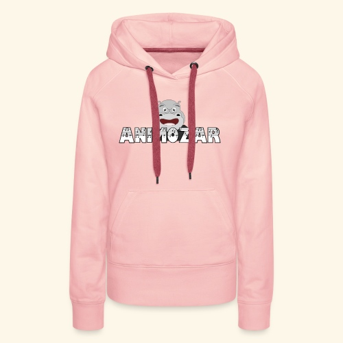 Logo officiel Animozar - Sweat-shirt à capuche Premium pour femmes