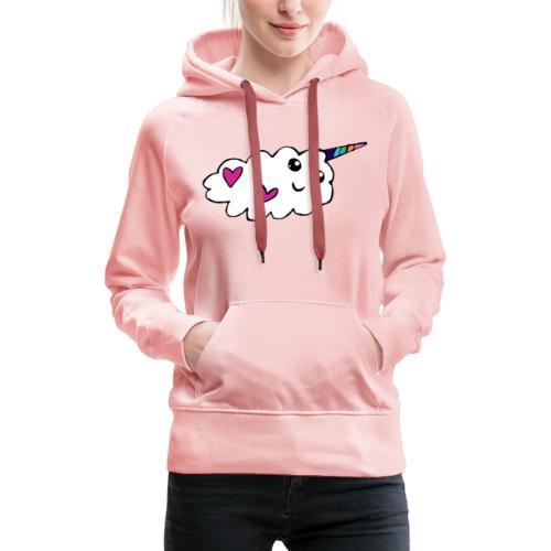 Nuage licorne Kawaii - Sweat-shirt à capuche Premium pour femmes
