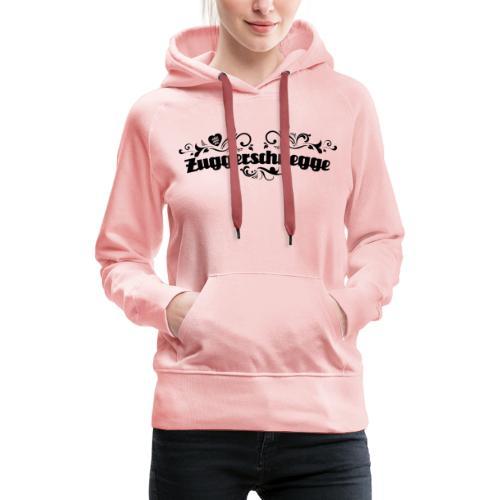 Zuggerschnegge (schwarz) - Frauen Premium Hoodie