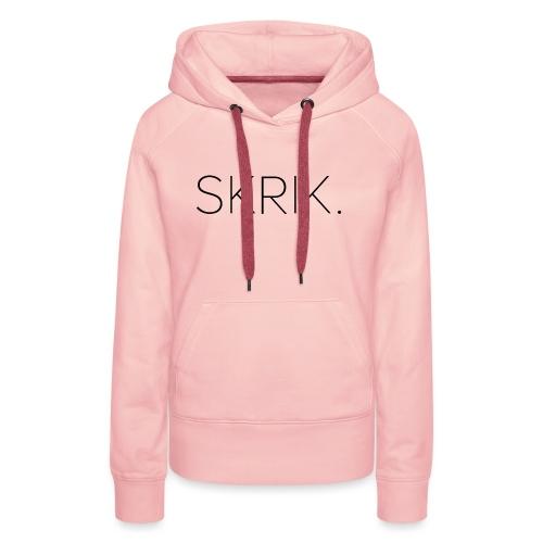 Skrik - Premium hettegenser for kvinner