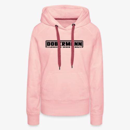 sigle 2 Dobermann - Sweat-shirt à capuche Premium pour femmes