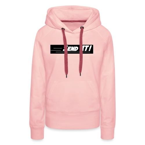 send it logo black and white - Women's Premium Hoodie