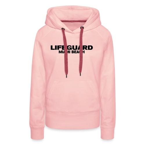 life guard miami - Sweat-shirt à capuche Premium pour femmes