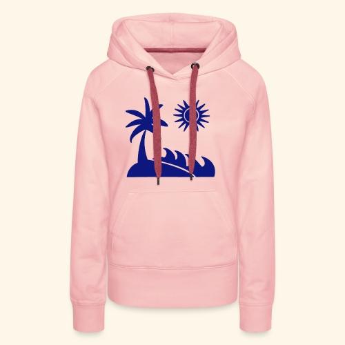 Palme, Meer, Sonne, Strand - Frauen Premium Hoodie