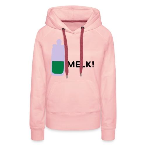 Grappige Rompertjes: Melk - Vrouwen Premium hoodie