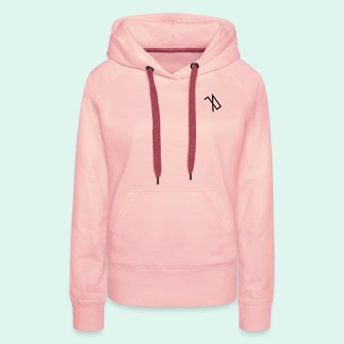 R A B A L E. decide / logo noir. - Sweat-shirt à capuche Premium pour femmes
