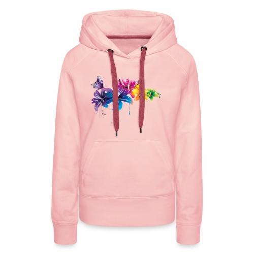 Flowers Vectors PNG - Sudadera con capucha premium para mujer