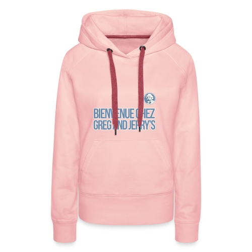bienvenue polo - Sweat-shirt à capuche Premium pour femmes