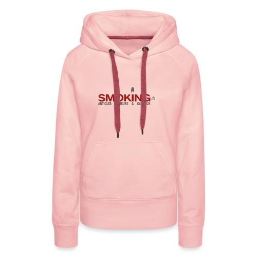 Logo Smoking.fr - Sweat-shirt à capuche Premium pour femmes